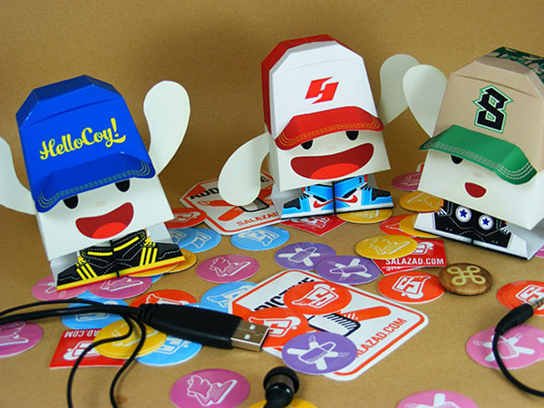 Really Fun Toys : Really cool paper toys web graphic design bashooka