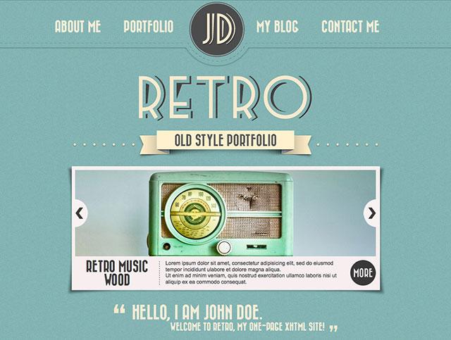 26 beautiful retro website templates