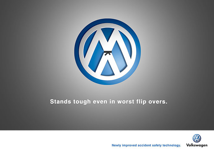 Volkswagen Accident Safety Technology: Flip overs