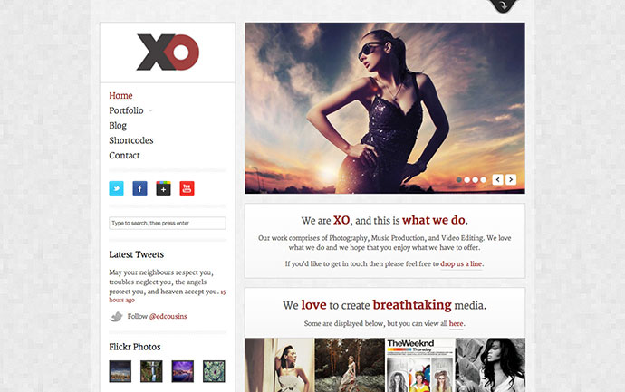 XO - responsive Creative WordPress Theme