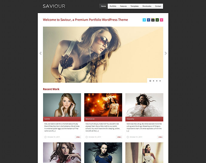 Saviour - responsive Creative WordPress Theme