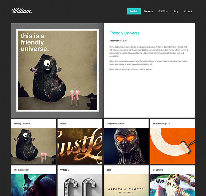 William - portfolio WordPress Theme
