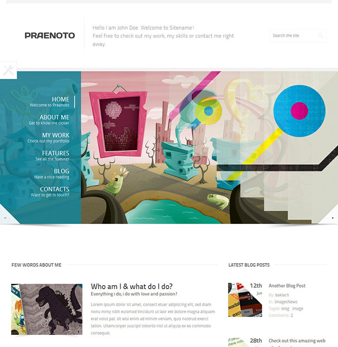 Praenoto - Clean & Minimalist WordPress Theme