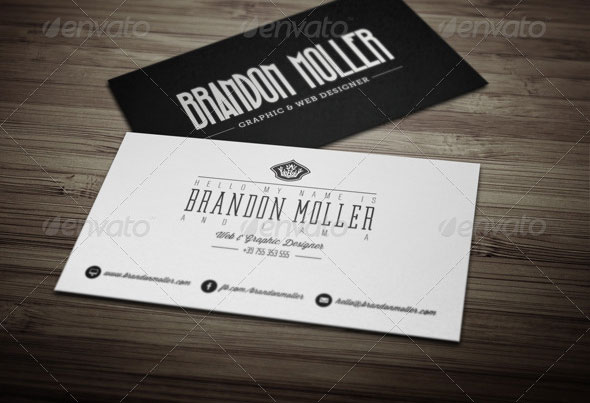 15 typography business card templates web graphic design bashooka creative retro business card reheart Images