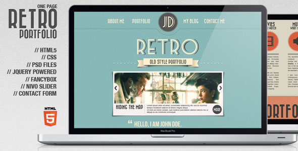 Retro Html Templates 26 Beautiful Retro Website Templates | Web & Graphic ...