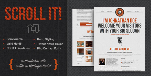 26 Beautiful Retro Website Templates | Web & Graphic Design | Bashooka