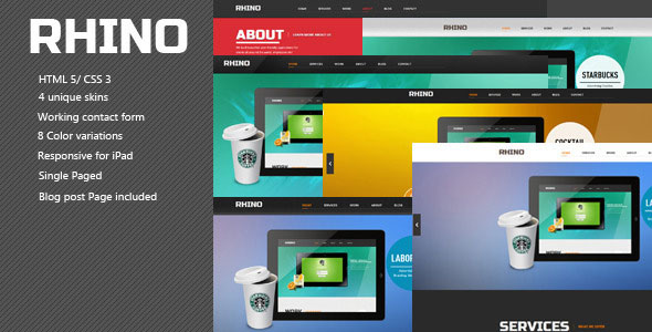 Rhino - Single Page Responsive Html5 Css3 Template