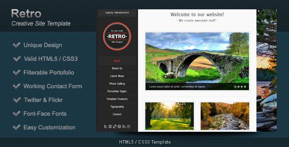 Retro - HTML5 Template