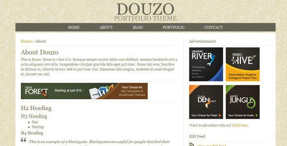 Douzo - Portfolio / Blog XHTML/CSS Template