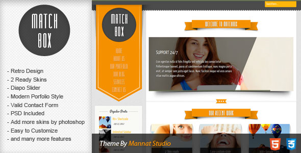 Matchbox HTML Template