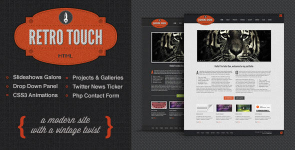 Retro Touch - Creative Portfolio Html Template