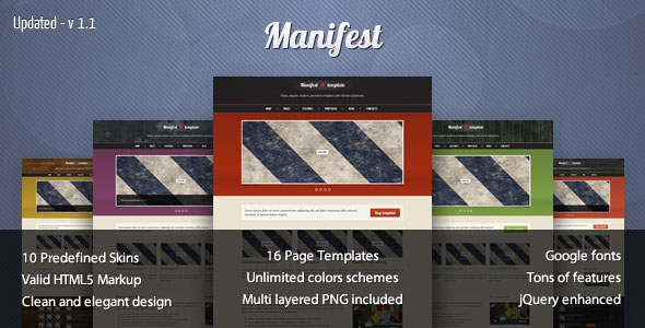 Manifest - Premium HTML5 Template