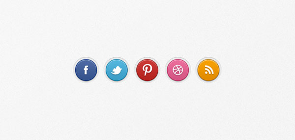 social-badges-set