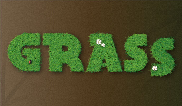 Vector Grass Text Effect