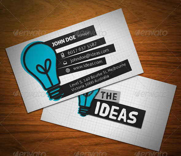 15 typography business card templates web graphic design bashooka ideas business card reheart Gallery