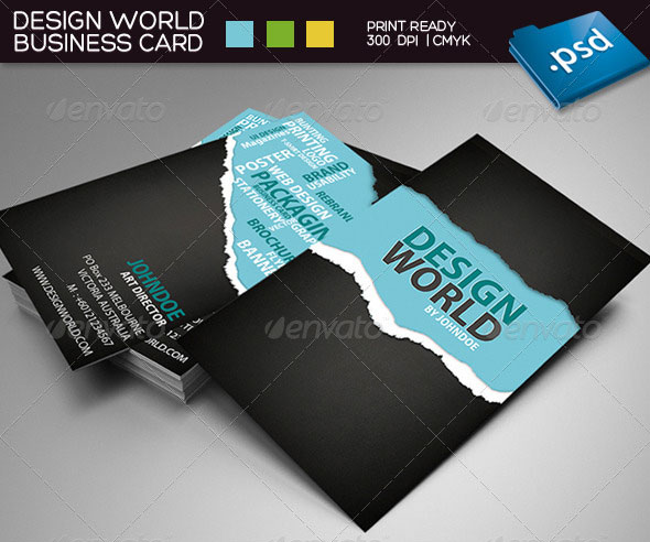 Typography Business Card Templates Web Graphic Design - Graphic design business card templates