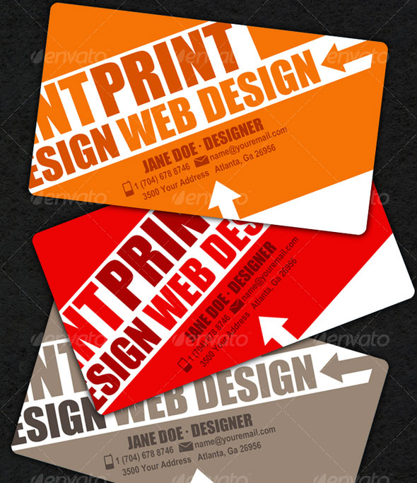 15 Typography Business Card Templates | Web & Graphic Design ...
