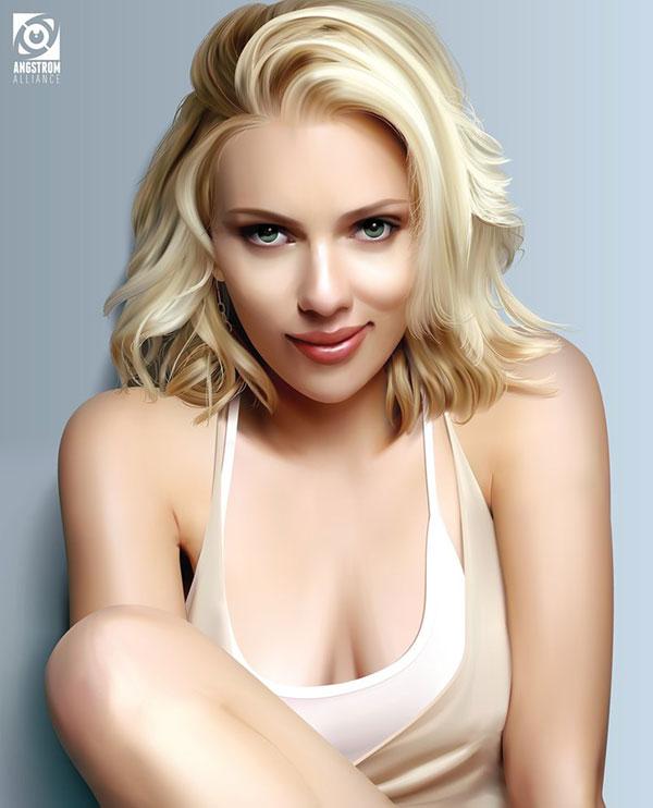 Scarlett Johansson Vector