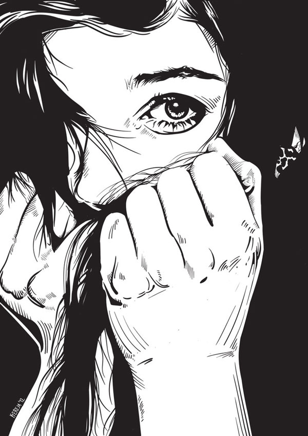 Daydream Nightmare Vector Portrait