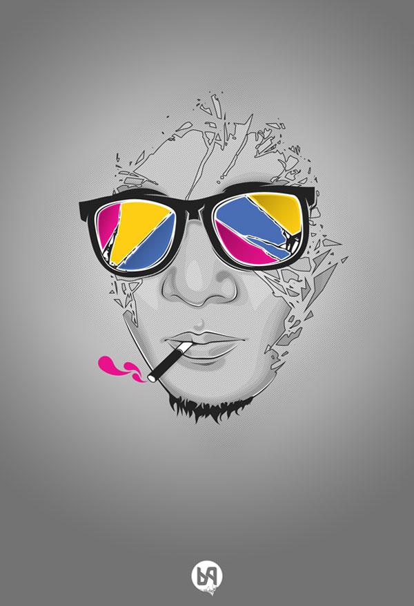 cool vector art portraits