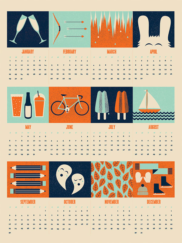 New Year Calendar Design : Cool creative calendar design ideas for web