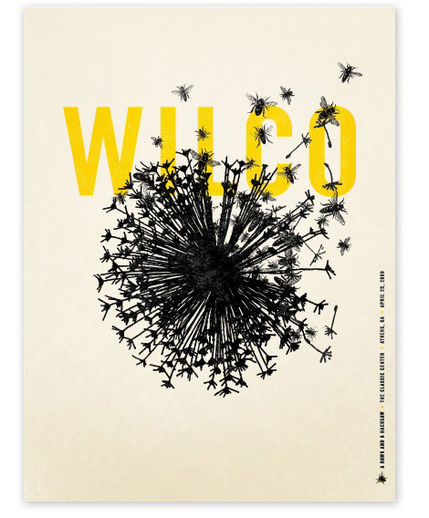 Wilco concert poster by Alvin Diec