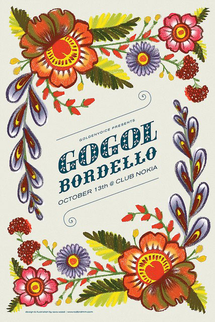 Gig poster: Gogol Bordello