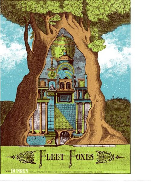 Beautiful fleet foxes poster