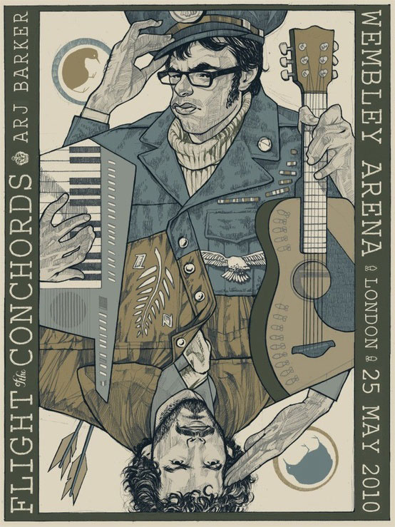 Flight of the Conchords - concert poster