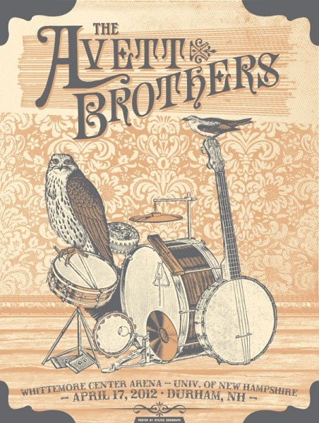 The Avett Brothers concert poster.