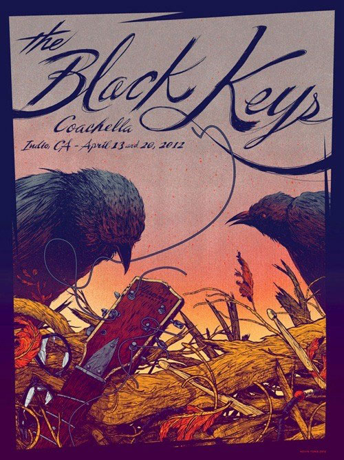The Black Keys concert poster.