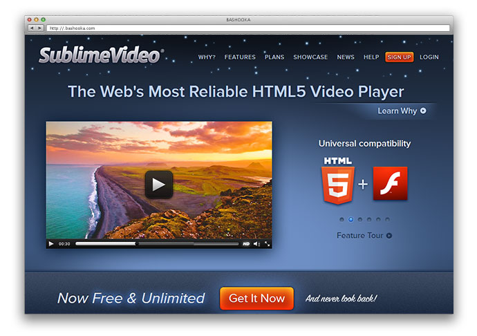 30 great html5 video audio players web graphic for Html5 video player template