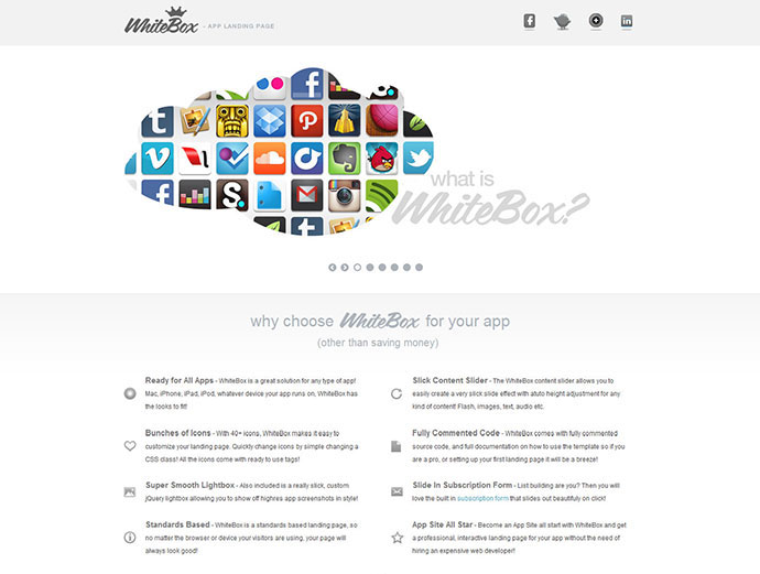 WhiteBox App Landing Page Template