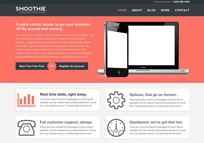 mfx - Smoothie Responsive Landing page
