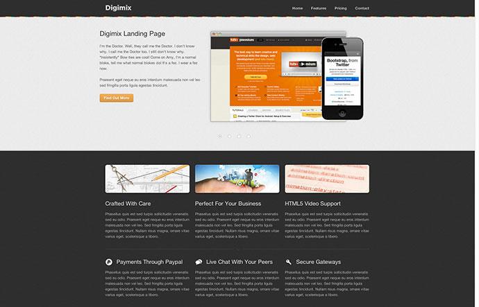Digimix Premium Landing Page
