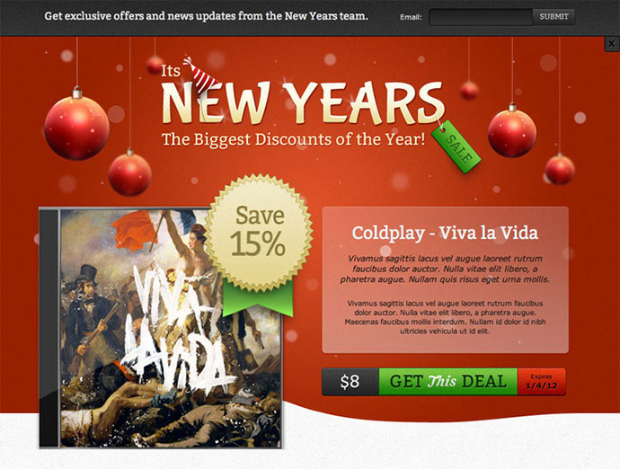 New Year Sale Landing Page