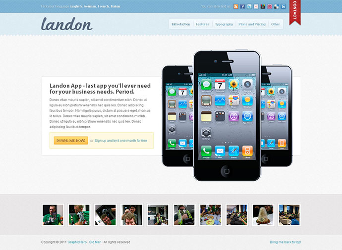 Landon - Business Landing Page