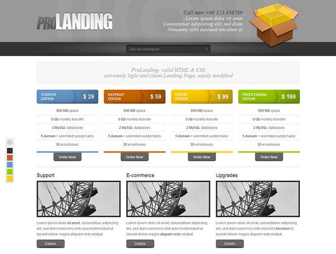 Pro Landing HTML/CSS Template