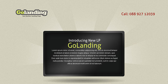 Golanding - A Creative-Clean Landing Page