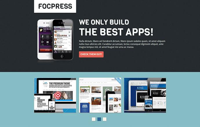 Focpress Responsive App Builder Landing Page