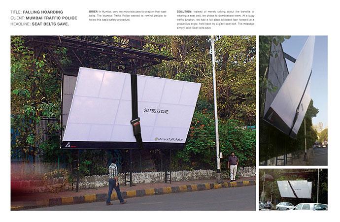 Traffic Police Mumbai: Falling hoarding