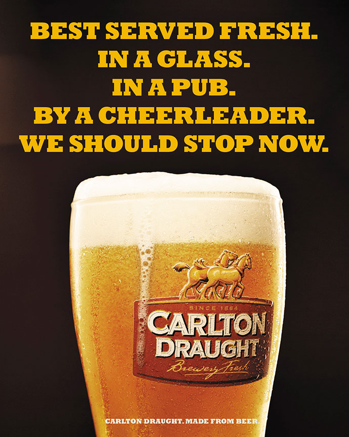 Carlton Draught: Cheerleader