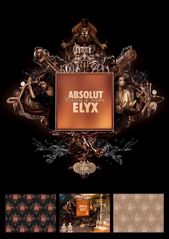 Absolut Elyx: Identity Visuals
