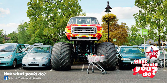 The National lottery UK: Monster truck