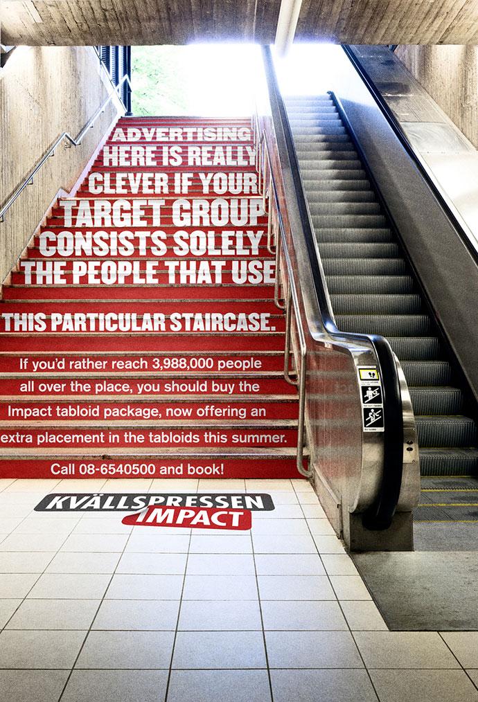 Kvällspressen Impact: A really unalternative media, Stairs