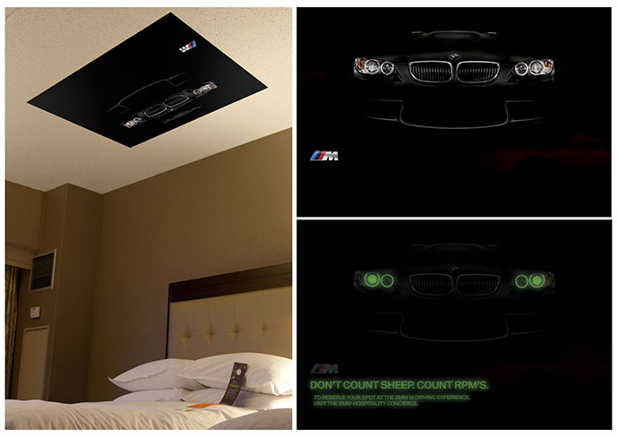 BMW Golf: In-room ceiling poster