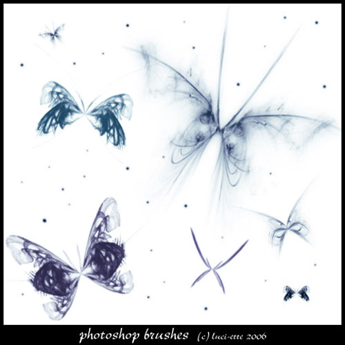 Fractal Butterflies Brushes 2