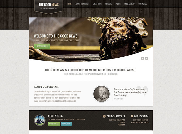 The Good News - Church/Religion PSD Theme