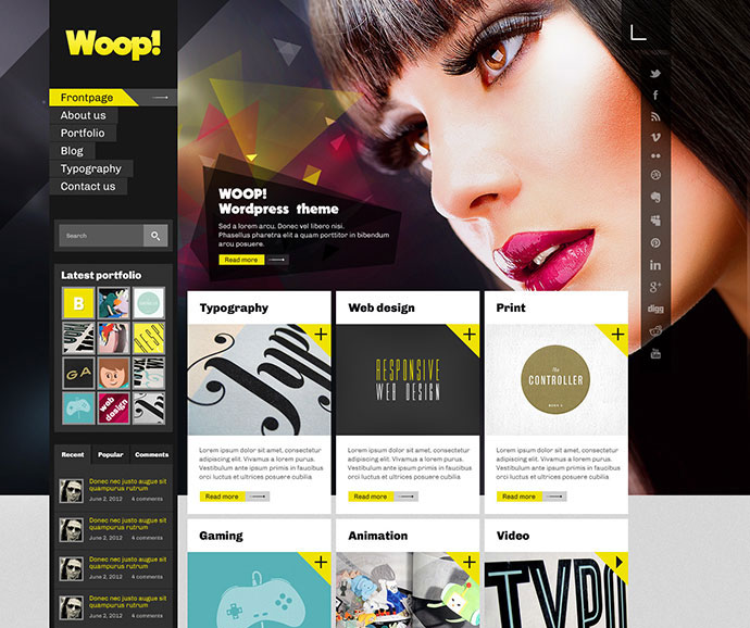95 Beautiful Photoshop Website Templates