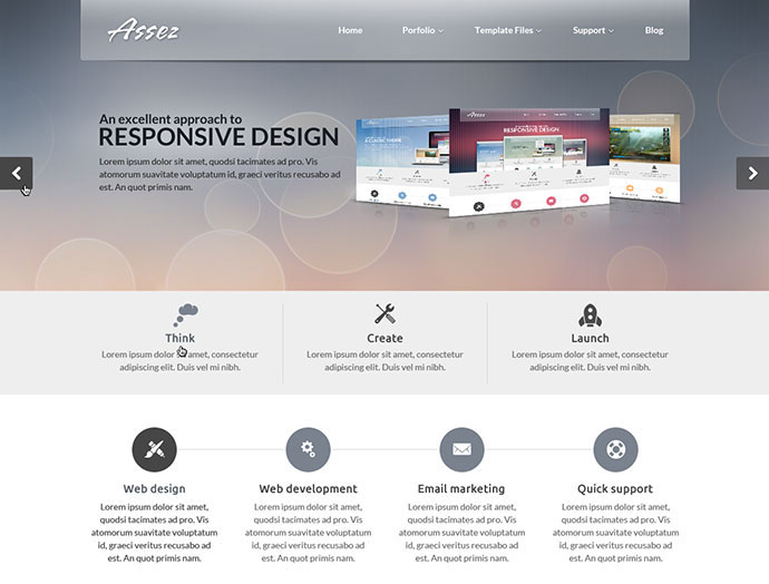 Beautiful Photoshop Website Templates Web Graphic Design - Web home page template